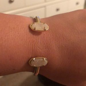 Kendra Scott gold bracelet with white sparkle